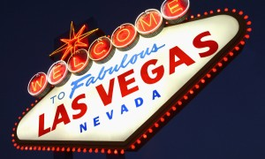 Neon sign for Las Vegas